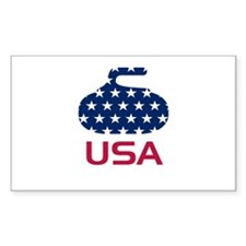 USA curling Decal