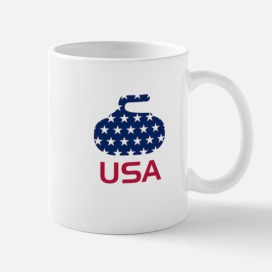 USA curling Mug