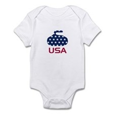 USA curling Infant Bodysuit