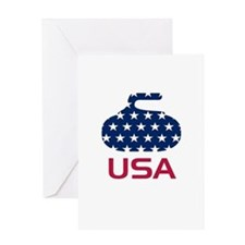 USA curling Greeting Card