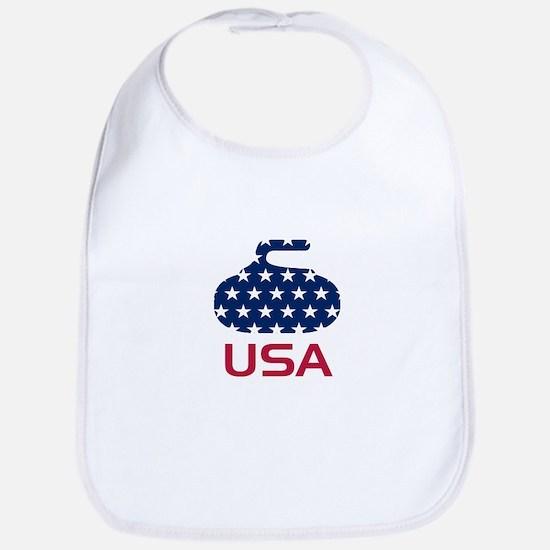 USA curling Bib