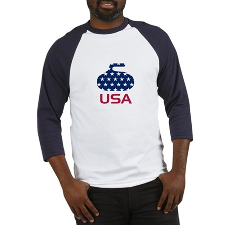 USA curling Baseball Jersey