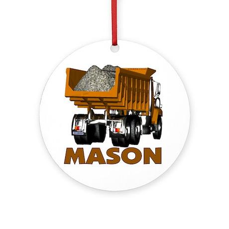 Mason Dumptruck Ornament (Round)