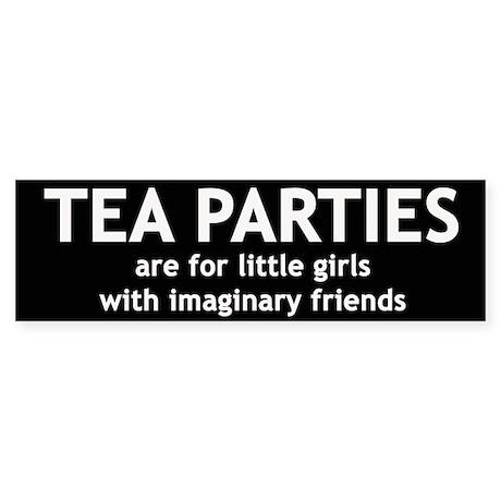 Tea Parties Sticker (Bumper)