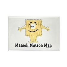 Matzoh Man Passover Rectangle Magnet