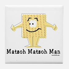 Matzoh Man Passover Tile Coaster