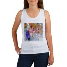 ALICE LEARNS TO PLAY FLAMINGO CROQUET Women's Tank
