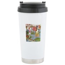 ALICE MEETS THE QUEEN OF HEARTS Travel Mug