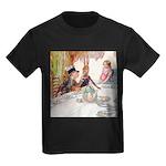 MAD HATTER'S TEA PARTY Kids Dark T-Shirt