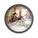 MAD HATTER'S TEA PARTY Wall Clock