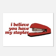 I Believe You Have My Stapler Postcards (Package o