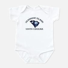 Seabrook Island SC - Map Design Infant Bodysuit