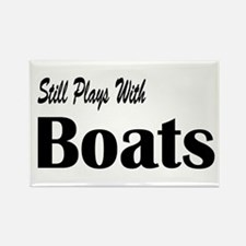 Plays With Boats Rectangle Magnet