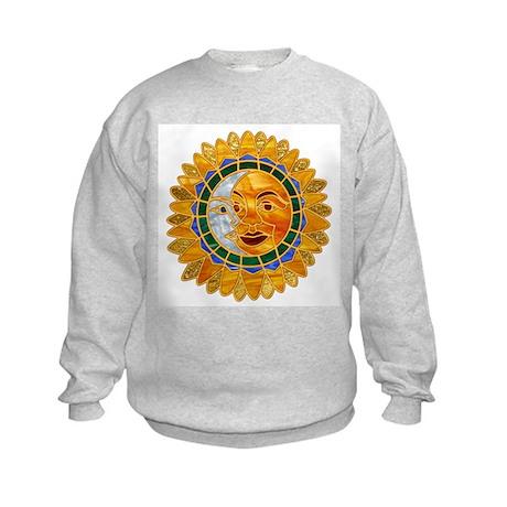 Sun Moon Celestial Kids Sweatshirt