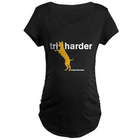 Tri Harder Maternity Dark T-Shirt
