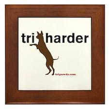 Tri Harder Framed Tile