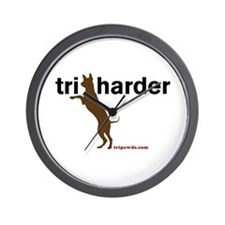 Tri Harder Wall Clock