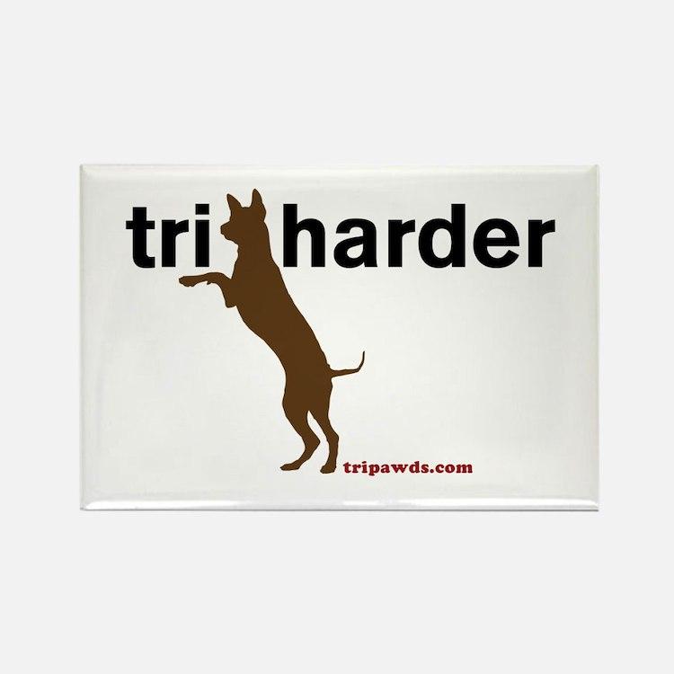 Tri Harder Rectangle Magnet