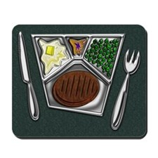 Mousepad TV Dinner Knife and Spork