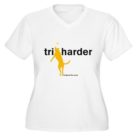 Tri Harder Women's Plus Size V-Neck T-Shirt