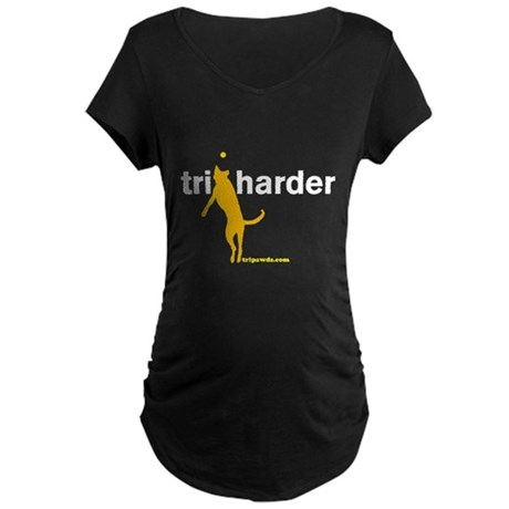 Tri Harder Maternity Dark T-Shirt