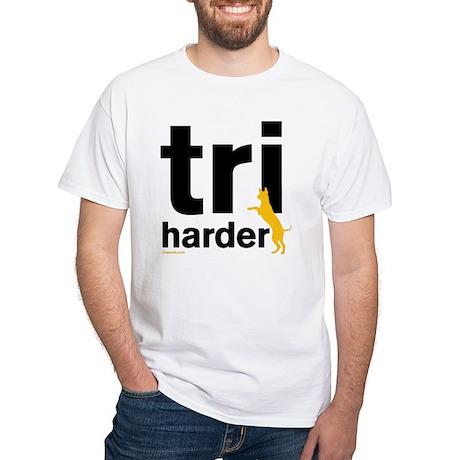 Tri Harder White T-Shirt