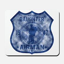 Proud Daughter - Airman Badge Mousepad