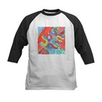 Multicolor Oak Leaf Art Kids Baseball Jersey
