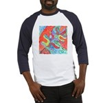 Multicolor Oak Leaf Art Baseball Jersey