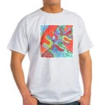 Multicolor Oak Leaf Art Light T-Shirt