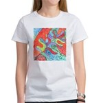 Multicolor Oak Leaf Art Women's T-Shirt