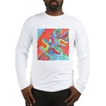 Multicolor Oak Leaf Art Long Sleeve T-Shirt
