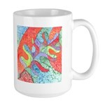 Multicolor Oak Leaf Art Large Mug