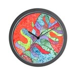 Multicolor Oak Leaf Art Wall Clock
