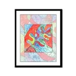 Multicolor Oak Leaf Art Framed Panel Print