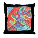 Multicolor Oak Leaf Art Throw Pillow