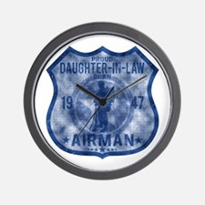 Proud Daughter-in-law - Airman Badge Wall Clock