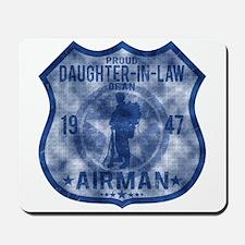 Proud Daughter-in-law - Airman Badge Mousepad