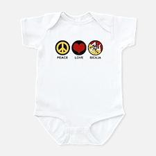 Peace Love Sicilia Infant Bodysuit