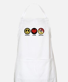 Peace Love Sicilia Apron