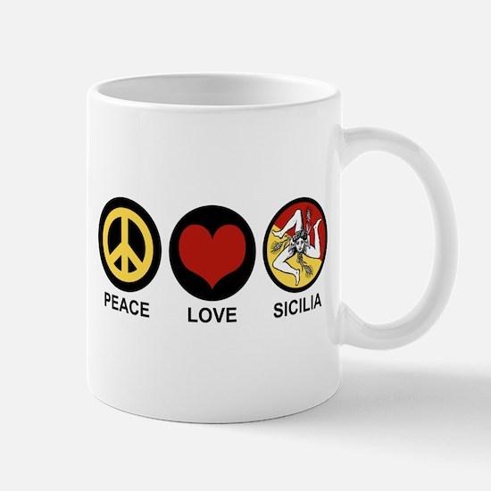 Peace Love Sicilia Mug