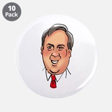 """GoVeRnOr ChriStoPhEr ChRisTie 3.5"""" Button (10 pack"""