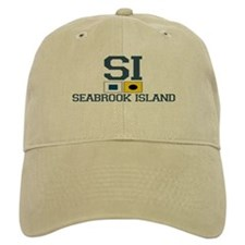 Seabrook Island SC - Nautical Design Baseball Cap