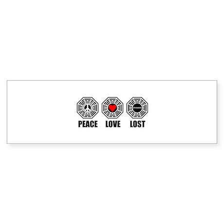 PEACE LOVE LOST Sticker (Bumper)