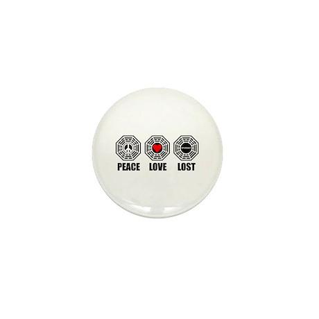 PEACE LOVE LOST Mini Button