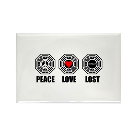PEACE LOVE LOST Rectangle Magnet