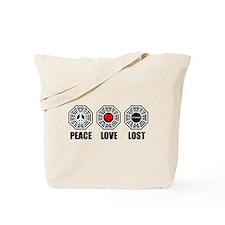 PEACE LOVE LOST Tote Bag