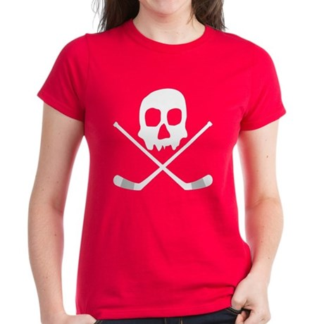 Hockey Skull Women's Dark T-Shirt