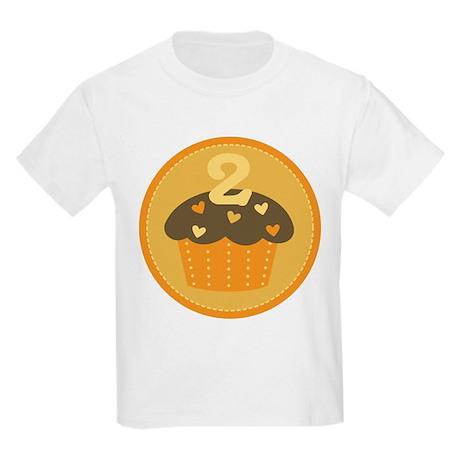 2nd Birthday Cupcake Kids Light T-Shirt