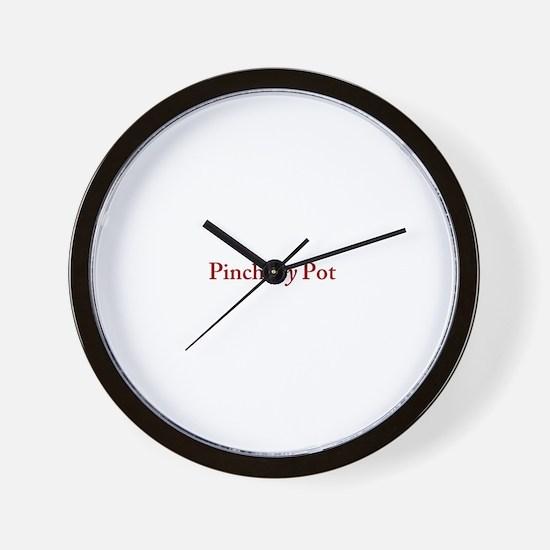 Pinch my Pot Wall Clock